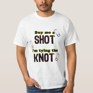 Three Shot Glasses For Groom - Light Background Tee Shirt