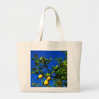Three Sicilian Lemons Large Tote Bag