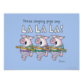 THREE SINGING PIGS poster by Sandra Boynton