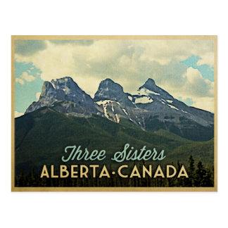 Three Sisters Alberta Canada Postcard