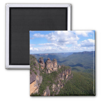 three sisters view square magnet