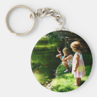 Three Sisters Watching Koi Keychain
