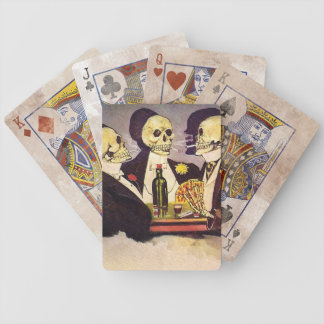 Three Skeletons Bicycle Playing Cards