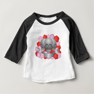Three Skulls with Banner Baby T-Shirt