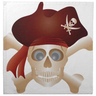Three Skulls with Banner Napkin