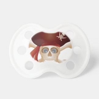 Three Skulls with Banner Pacifier