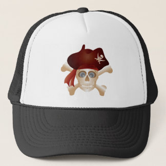 Three Skulls with Banner Trucker Hat