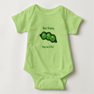 Three Sleeping Peas In A Pod Baby Bodysuit