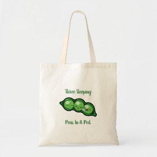 Three Sleeping Peas In A Pod Tote Bag