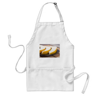 Three slices of juicy yellow melon standard apron