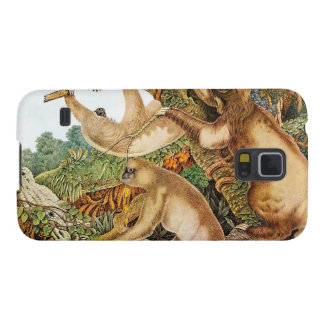 Three Sloths Vintage Illustration Case For Galaxy S5