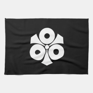 Three snake eyes with swords kitchen towel