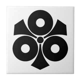 Three snake eyes with swords tile