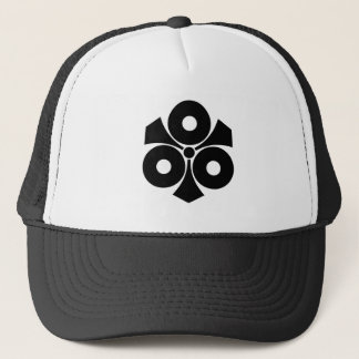 Three snake eyes with swords trucker hat