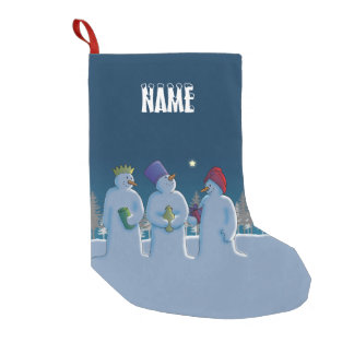 Three Snow Kings Small Christmas Stocking