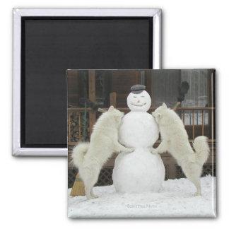 """Three Snow Men"" Magnet"