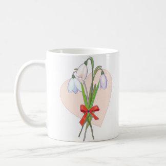 three snowdrops coffee mug