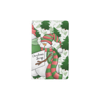 Three Snowman Carolers Pocket Moleskine Notebook