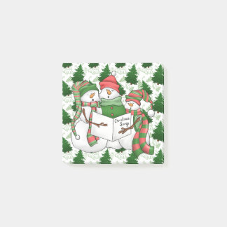 Three Snowman Carolers Post-it Notes