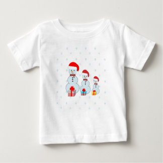 Three snowmen baby T-Shirt