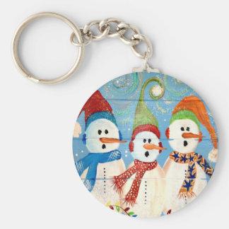Three Snowmen Keychain