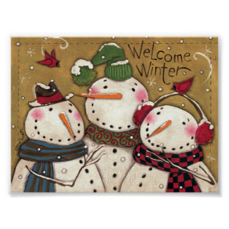 Three Snowmen Poster