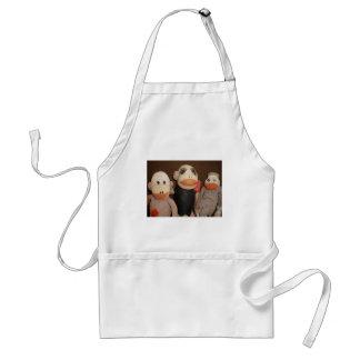 three sock monkeys adult apron