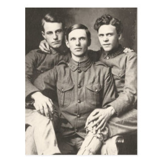 Three Soldiers Postcard