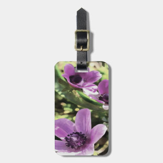Three Spring Anemone Flowers Luggage Tag