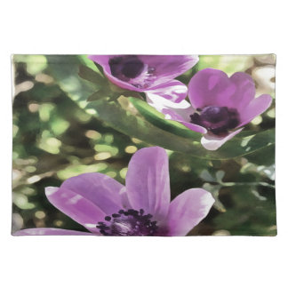 Three Spring Anemone Flowers Placemat