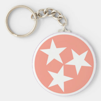 Three star Tennessee State Flag Keychain