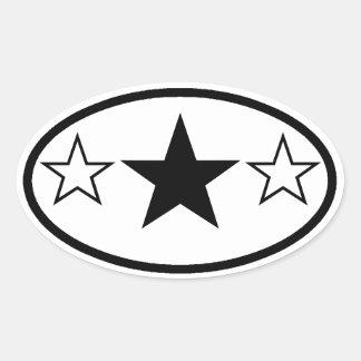 Three Stars Stickers