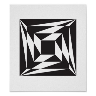 Three Steps to Center Geometric Poster