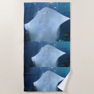 Three Sting Rays Beach Towel