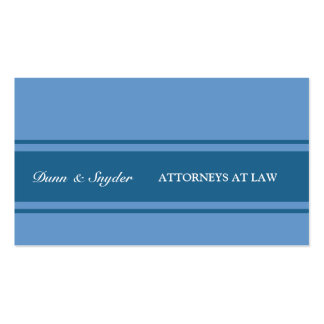 Three Stripes  Blue Modern Attorney Law Consultant Pack Of Standard Business Cards