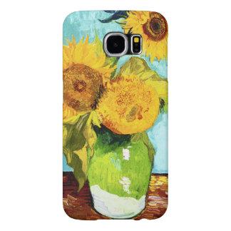 Three Sunflowers by Van Gogh Fine Art Samsung Galaxy S6 Cases