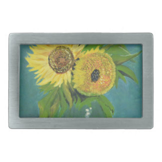 Three Sunflowers in a Vase, van Gogh Belt Buckle