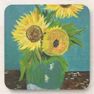 Three Sunflowers in a Vase, van Gogh Beverage Coasters