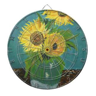 Three Sunflowers in a Vase, van Gogh Dartboard