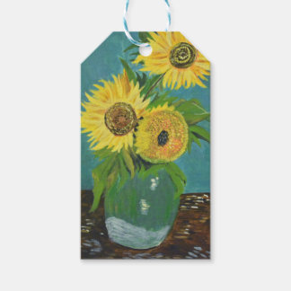 Three Sunflowers in a Vase, van Gogh Gift Tags