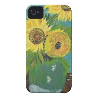 Three Sunflowers in a Vase, van Gogh iPhone 4 Cases