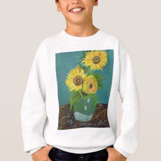 Three Sunflowers in a Vase, van Gogh Sweatshirt
