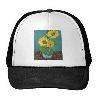 Three Sunflowers in a Vase, van Gogh Trucker Hat