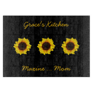 Three Sunny Sunflowers for Grace's Kitchen Boards