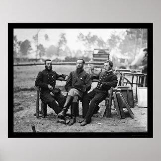 Three Surgeons at the Siege of Petersburg, VA 1864 Poster