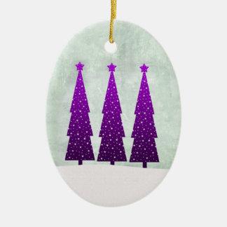 Three Tall Christmas Trees Ornament