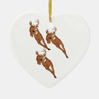 Three to Run Ceramic Ornament