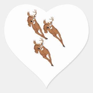 Three to Run Heart Sticker