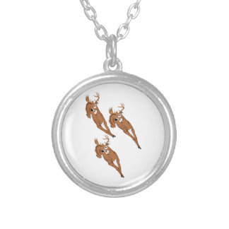 Three to Run Silver Plated Necklace