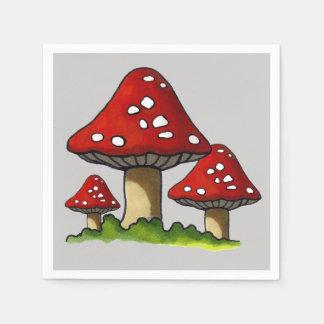 Three Toadstools, Original Illustration Paper Napkin